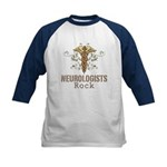 Neurologists Rock Caduceus Kids Baseball Jersey