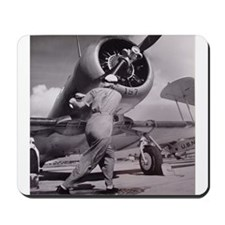 Funny Women in aviation Mousepad