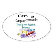 i'm a company commander Oval Decal