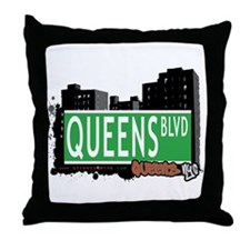 QUEENS BOULEVARD, QUEENS, NYC Throw Pillow