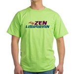 Zen Librarian Green T-Shirt