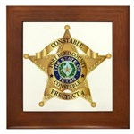 Fort Bend Constable Framed Tile
