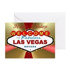 Vegas Happy Holidays Greeting Cards (Pk of 10)