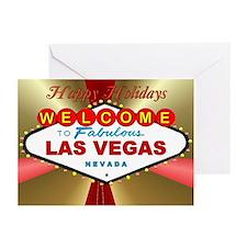 Vegas Happy Holidays Greeting Cards (Pk of 10)