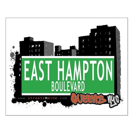 EAST HAMPTON BOULEVARD, QUEENS, NYC Small Poster