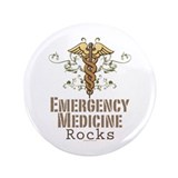 "Emergency Medicine Rocks ER Doc 3.5"" Button (100 p"