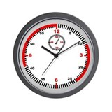 Stopwatch with Seconds Wall Clock