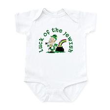 Luck of the Jewish Leprechaun Infant Bodysuit