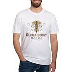 Dermatology Rocks Caduceus Fitted T-Shirt
