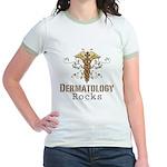 Dermatology Rocks Caduceus Jr. Ringer T-Shirt