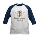 Dermatology Rocks Caduceus Kids Baseball Jersey