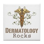 Dermatology Rocks Caduceus Tile Coaster