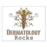 Dermatology Rocks Caduceus Small Poster