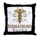 Dermatology Rocks Caduceus Throw Pillow