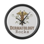 Dermatology Rocks Caduceus Large Wall Clock