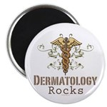 Dermatology Rocks Caduceus Magnet