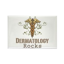 Dermatology Rocks Caduceus Rectangle Magnet (100 p