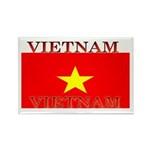 Vietnam Vietnamese Flag Rectangle Magnet (10 pack)