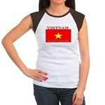 Vietnam Vietnamese Flag Women's Cap Sleeve T-Shirt