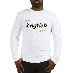 Major In English Meet Girls Long Sleeve T-Shirt