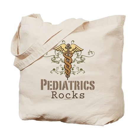 Pediatrics Rocks Caduceus Tote Bag