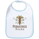 Pediatrics Rocks Caduceus Bib
