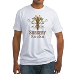 Surgery Rocks Caduceus Fitted T-Shirt
