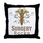 Surgery Rocks Caduceus Throw Pillow