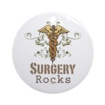 Surgery Rocks Caduceus Ornament (Round)