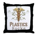 Plastics Rocks Caduceus Throw Pillow