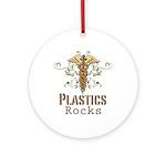 Plastics Rocks Caduceus Ornament (Round)