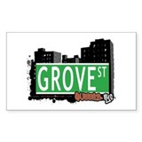 GROVE STREET, QUEENS, NYC Rectangle Decal