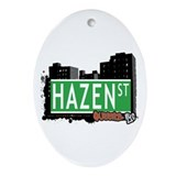 HAZEN STREET, QUEENS, NYC Oval Ornament
