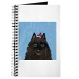 Schipperke xmas santa hat Journal
