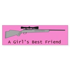A Girl's Best Friend Bumper Sticker - Pink