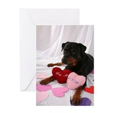 Rottie Valentine Greeting Card
