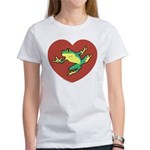 ASL Frog in Heart Women's T-Shirt