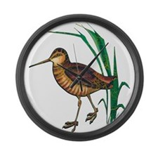 Snipe Wading Bird Large Wall Clock