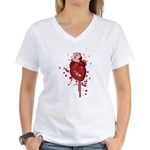 Bleeding Heart Women's V-Neck T-Shirt