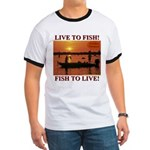 LIVE TO FISH! Ringer T
