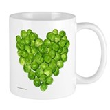 Brussel Sprouts Heart Small Mug
