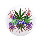 Marijuana Art 3.5&quot; Button (100 pack)