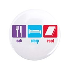 "Eat Sleep Read 3.5"" Button (100 pack)"