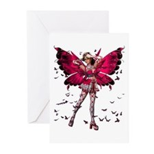 Butterfly Kisses Garnet Greeting Cards (Package of
