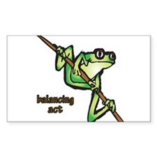 Balancing Act Rectangle Sticker 10 pk)