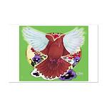 Flight Pigeon and Flowers Mini Poster Print