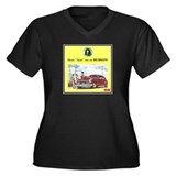 """1946 Pontiac Ad"" Women's Plus Size V-Neck Dark T-"