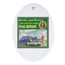 """1946 Hudson Ad"" Oval Ornament"