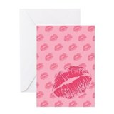 Pink Kiss Greeting Card