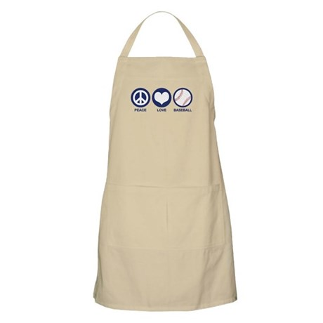 Peace Love Baseball BBQ Apron